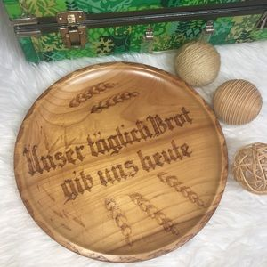 """Other - Our daily bread wooden 10"""" decorative plate"""